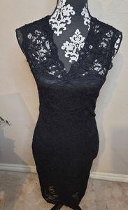 The Vintage Shop Black Lace Dress Sz M